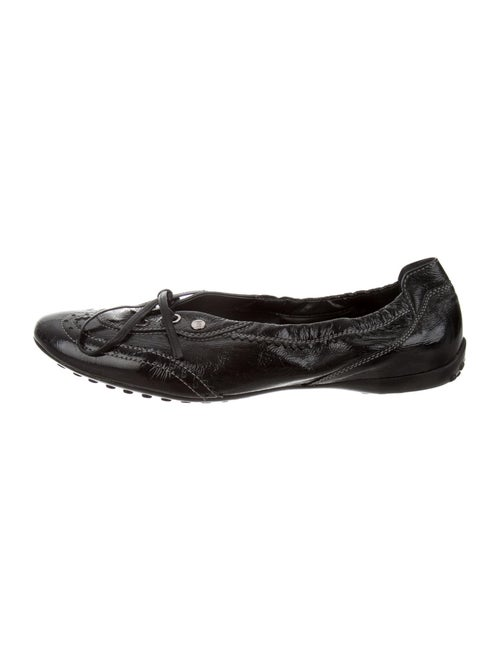 Tod's Leather Flats Black