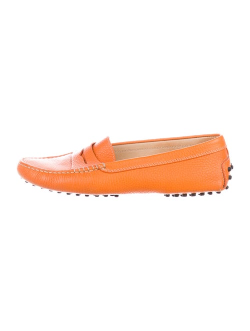 Tod's Leather Loafers Orange