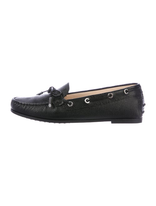 Tod's Leather Moccasins Black