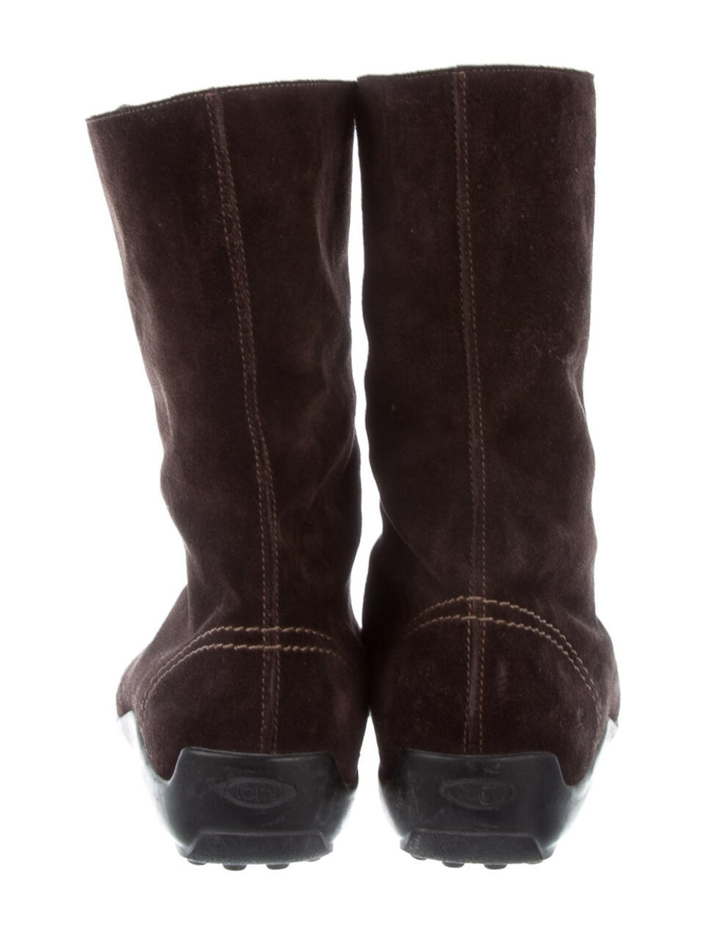 Tod's Suede Combat Boots Brown - image 4