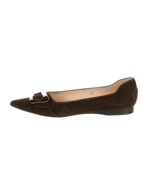 Tod's Suede Ballet Flats Brown