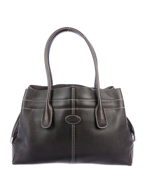 Tod's Leather D-Styling Tote Brown