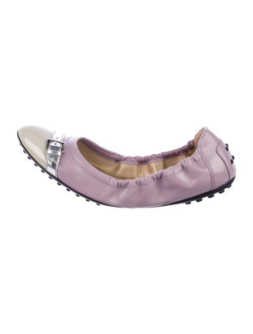 Tod's Leather Flats Purple