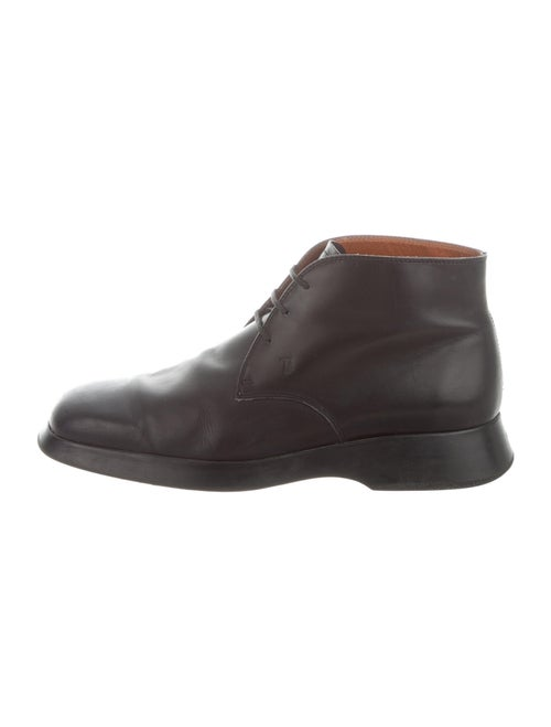 Tod's Leather Derby Shoes Black