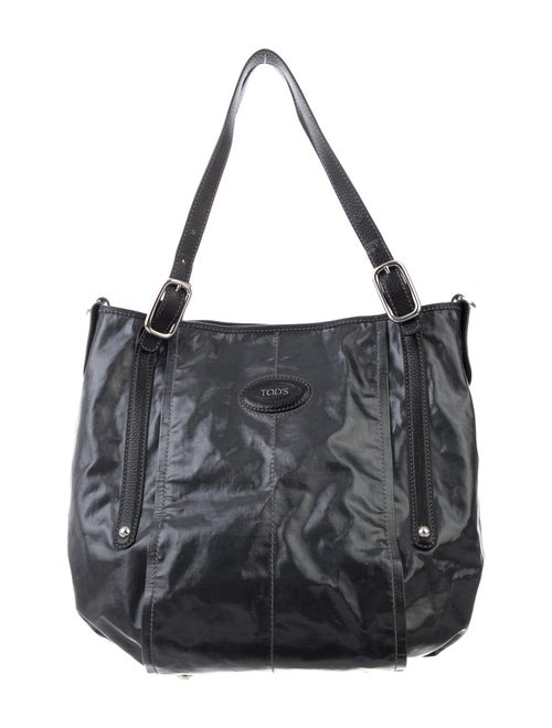 Tod's Coated Canvas Bag Black