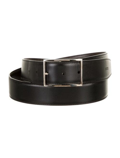 Tod's Leather Reversible Belt black
