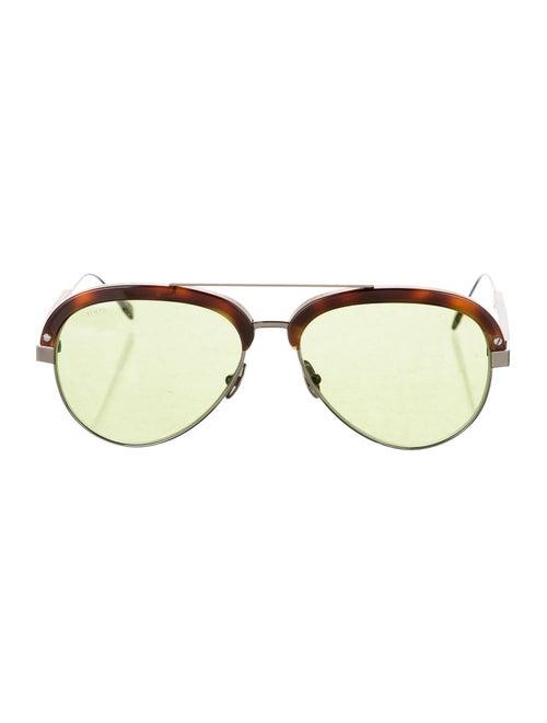 Tod's Tinted Aviator Sunglasses silver