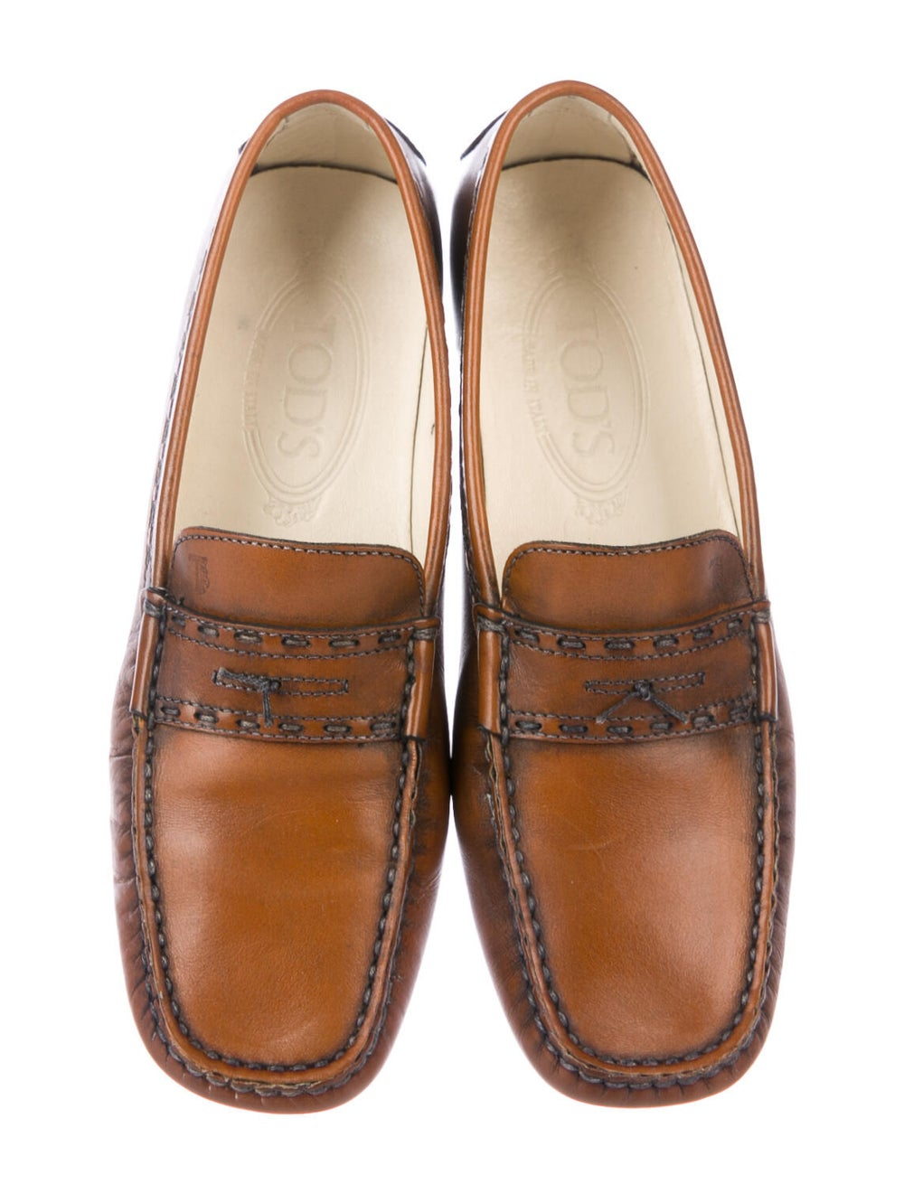 Tod's Leather Loafers Brown - image 3
