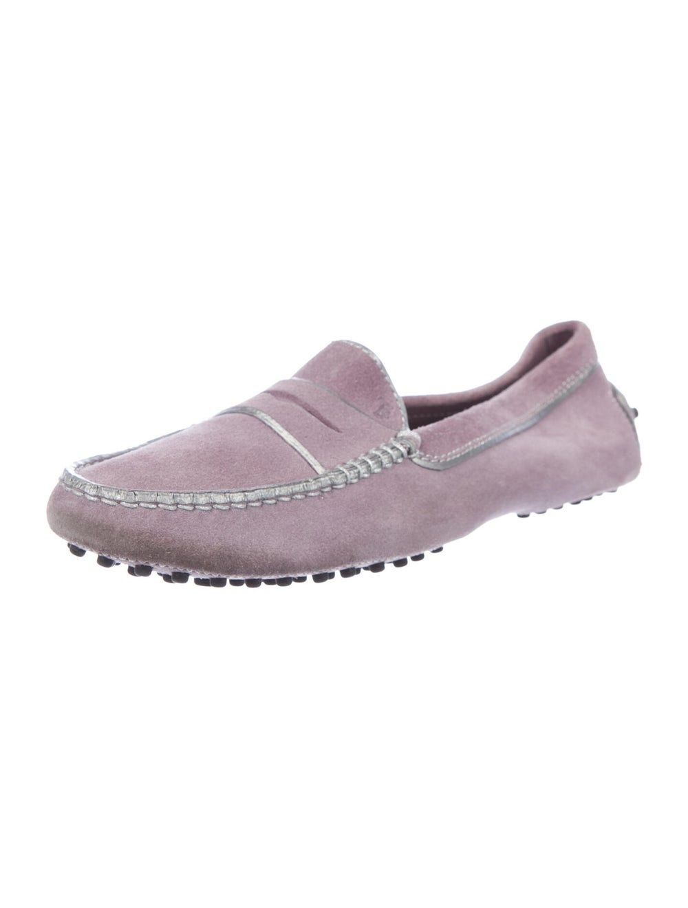 Tod's Suede Loafers Purple - image 2