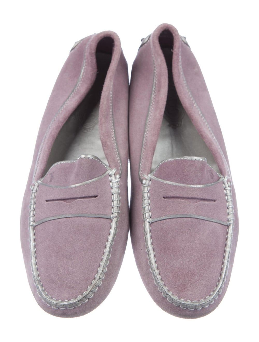 Tod's Suede Loafers Purple - image 3