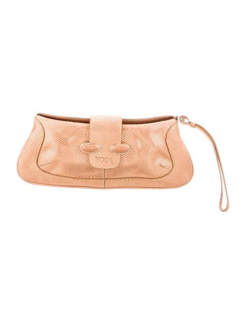 Tod's Metallic Clutch Bag Metallic