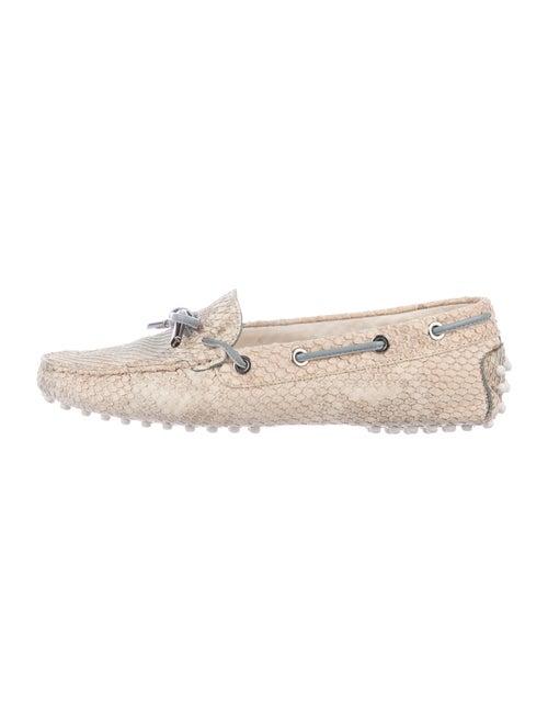 Tod's Snakeskin Animal Print Loafers