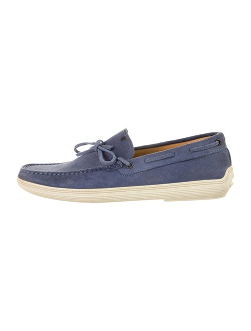 Tod's Suede Boat Shoes Blue