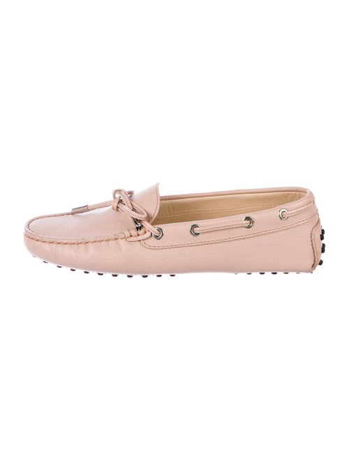 Tod's Leather Moccasins Pink
