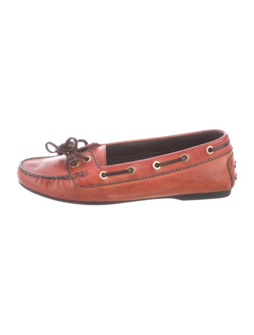 Tod's Leather Moccasins Red