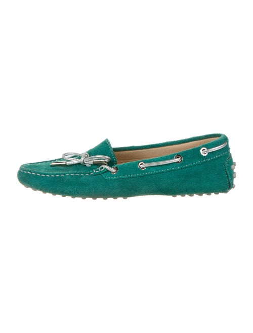Tod's Suede Moccasins Green