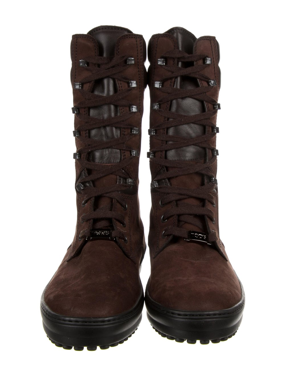 Tod's Suede Combat Boots Brown - image 3
