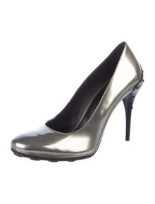 Tod's Patent Leather Studded Accents Pumps