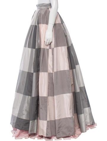 Check Evening Skirt