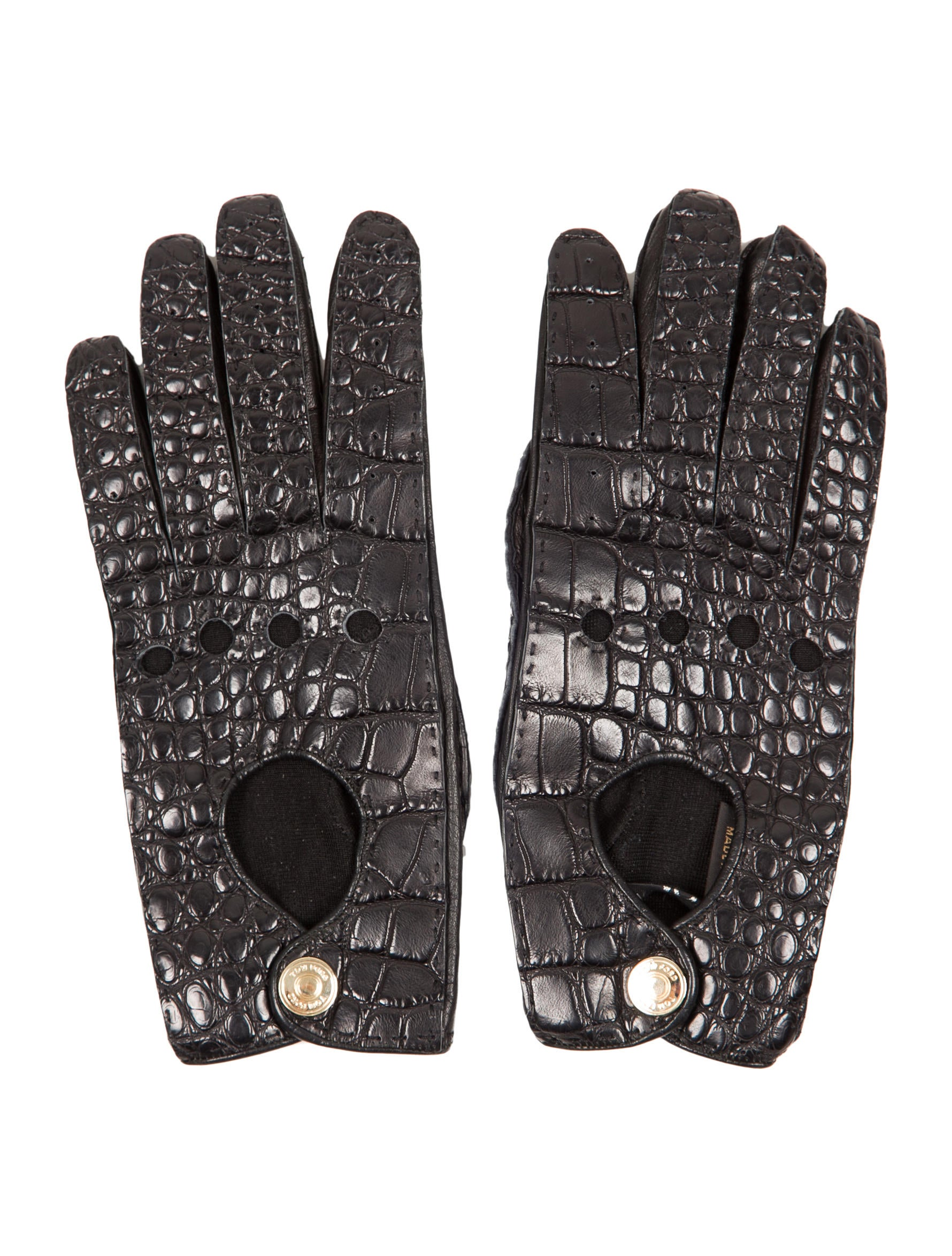 Tom Ford Crocodile and Leather Gloves Accessories TOM