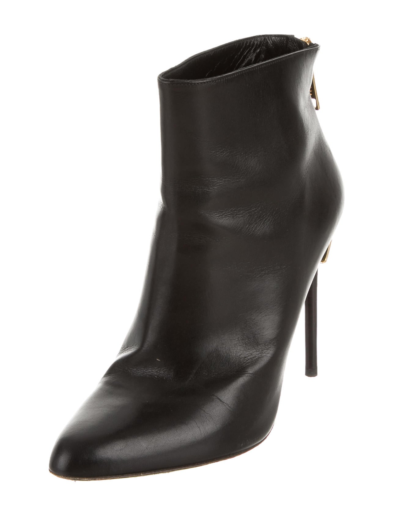 tom ford leather ankle boots shoes tom25146 the realreal