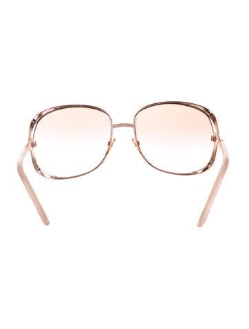 Gold-Tone Oversize Sunglasses
