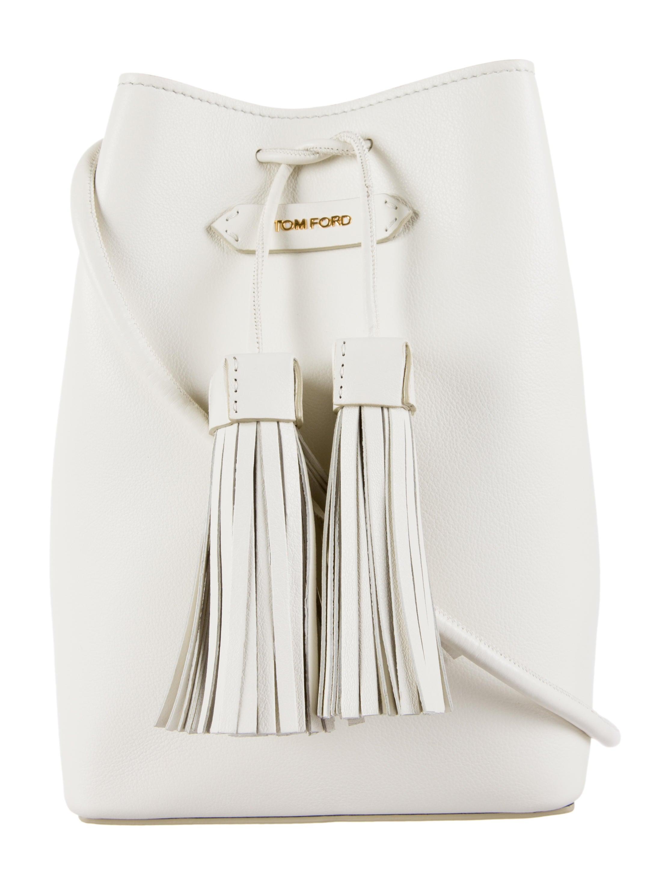 Tom Ford Small Tassel Bucket Bag - Handbags - TOM25283   The RealReal 33297f8f564c
