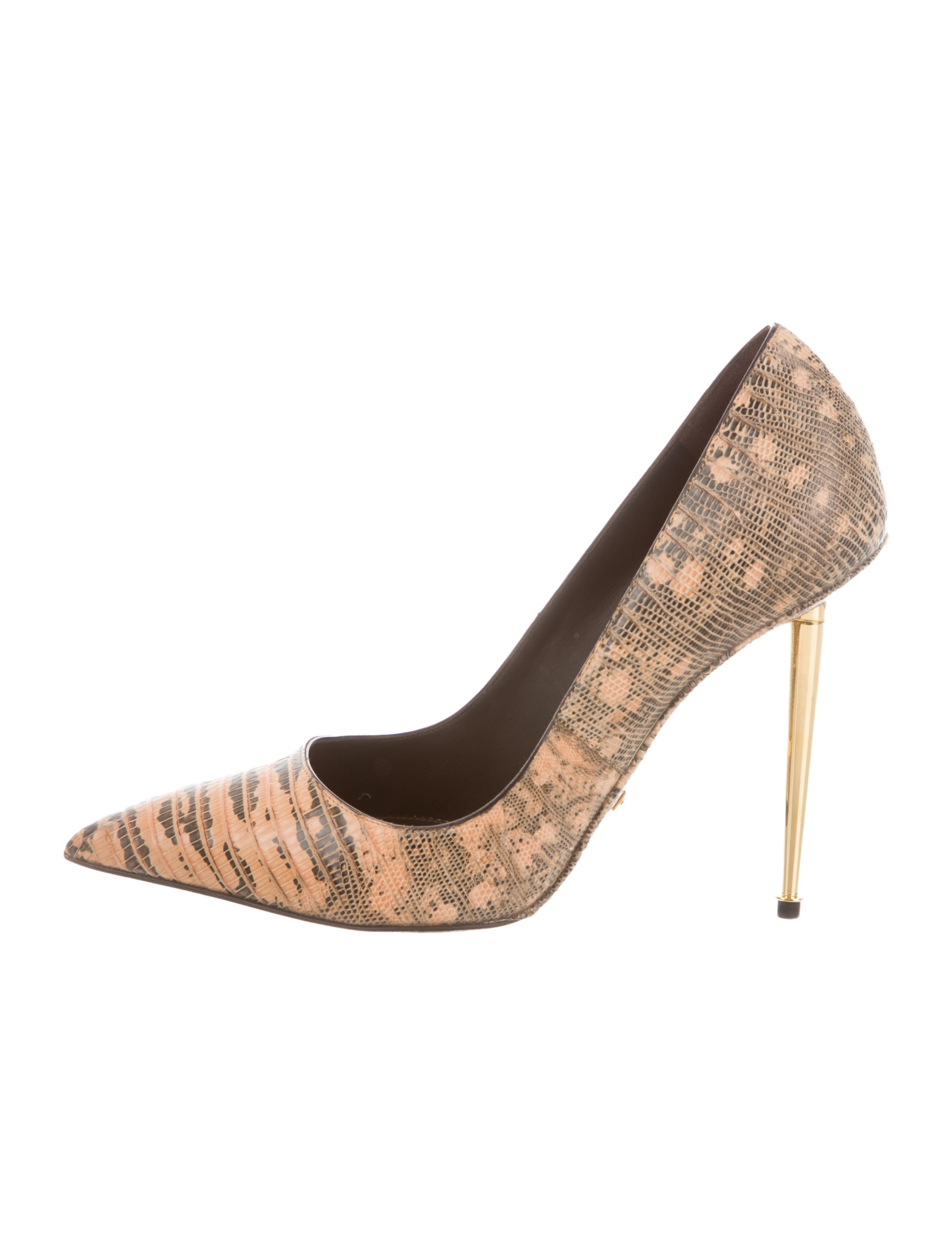 Tom Ford Lizard Pointed-Toe Pumps clearance perfect outlet release dates discount professional xNdo7