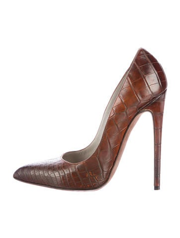 Alligator Pointed-Toe Pumps