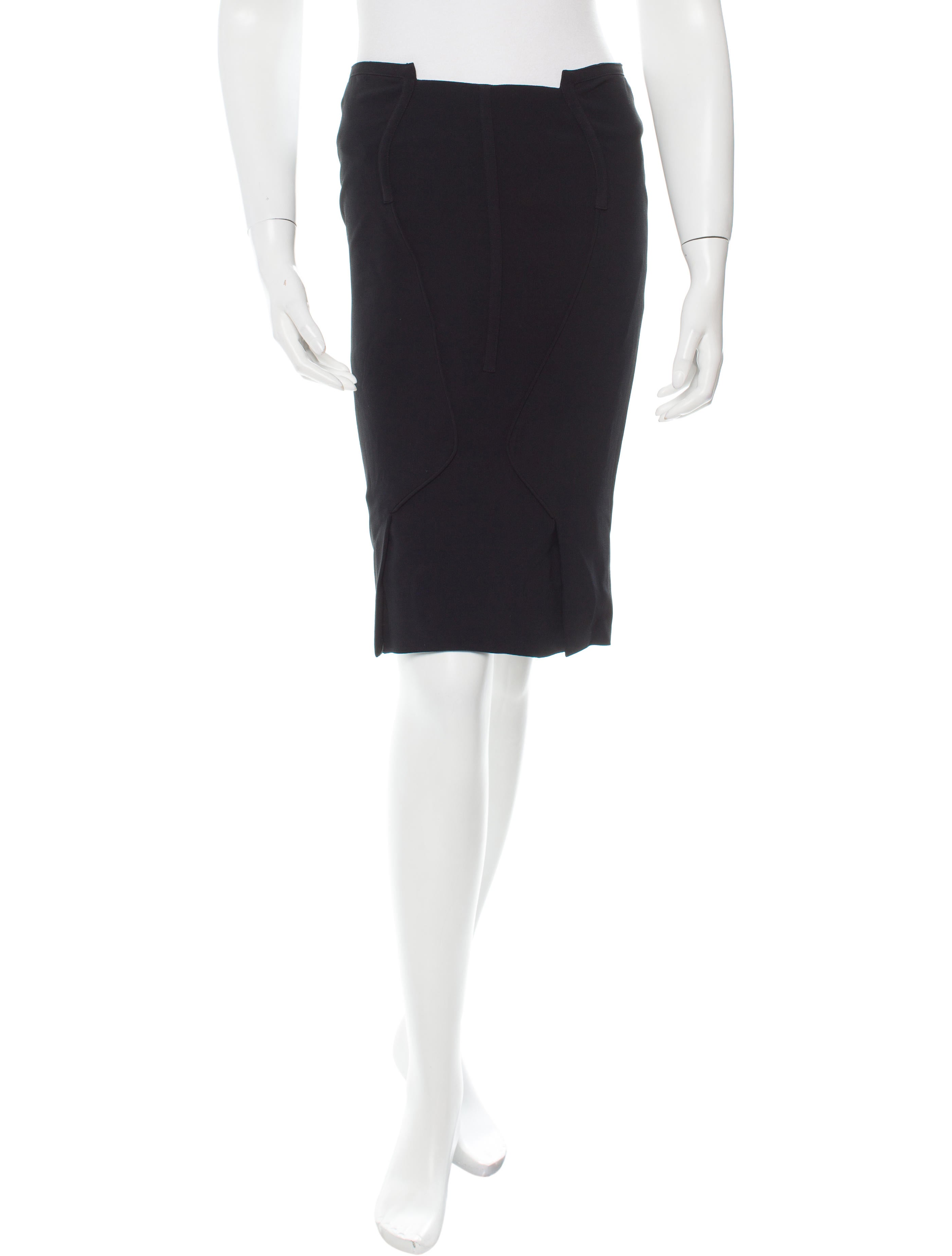 tom ford knee length pencil skirt clothing tom28776
