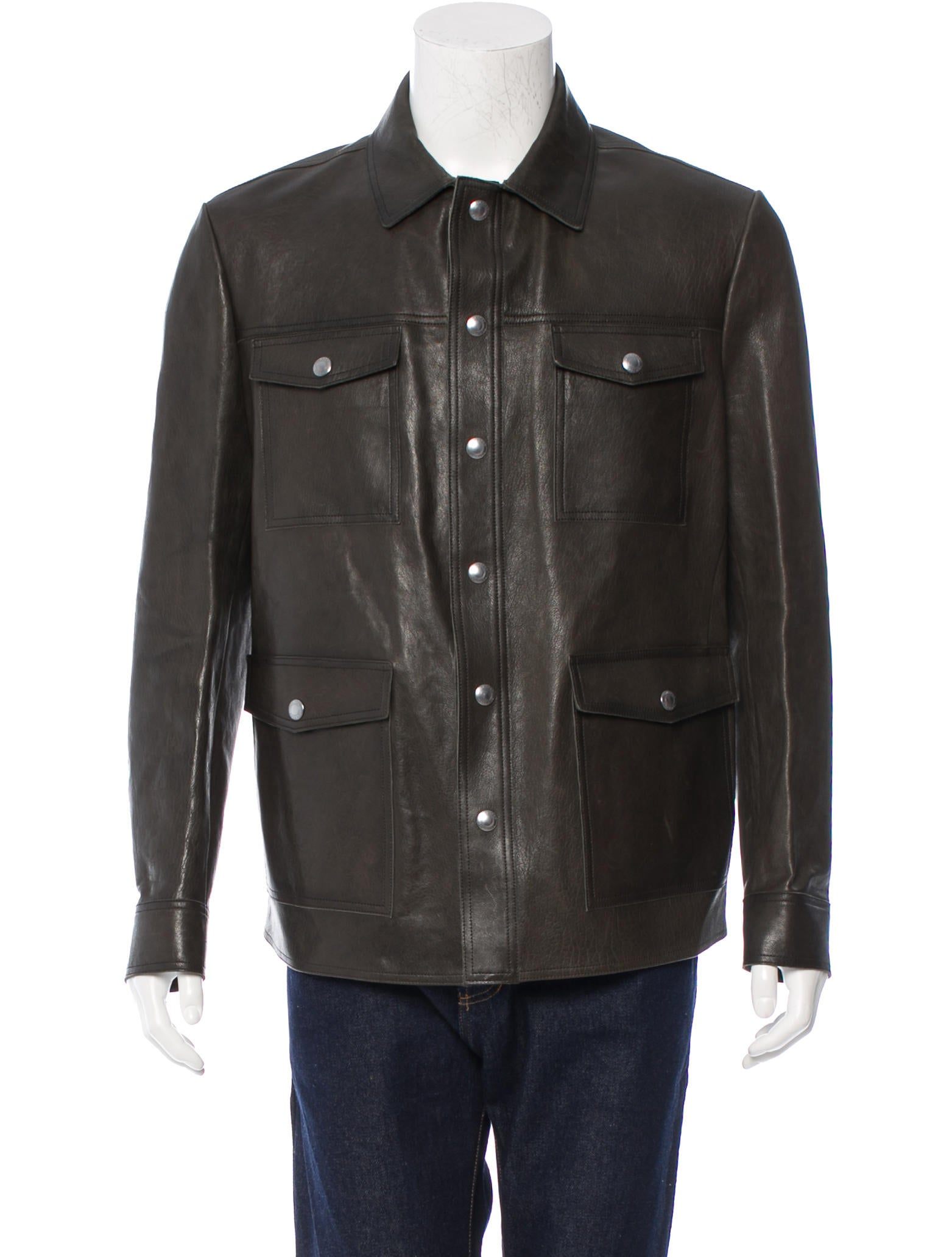 Tom ford leather shirt jacket clothing tom29713 the for Leather jacket and shirt