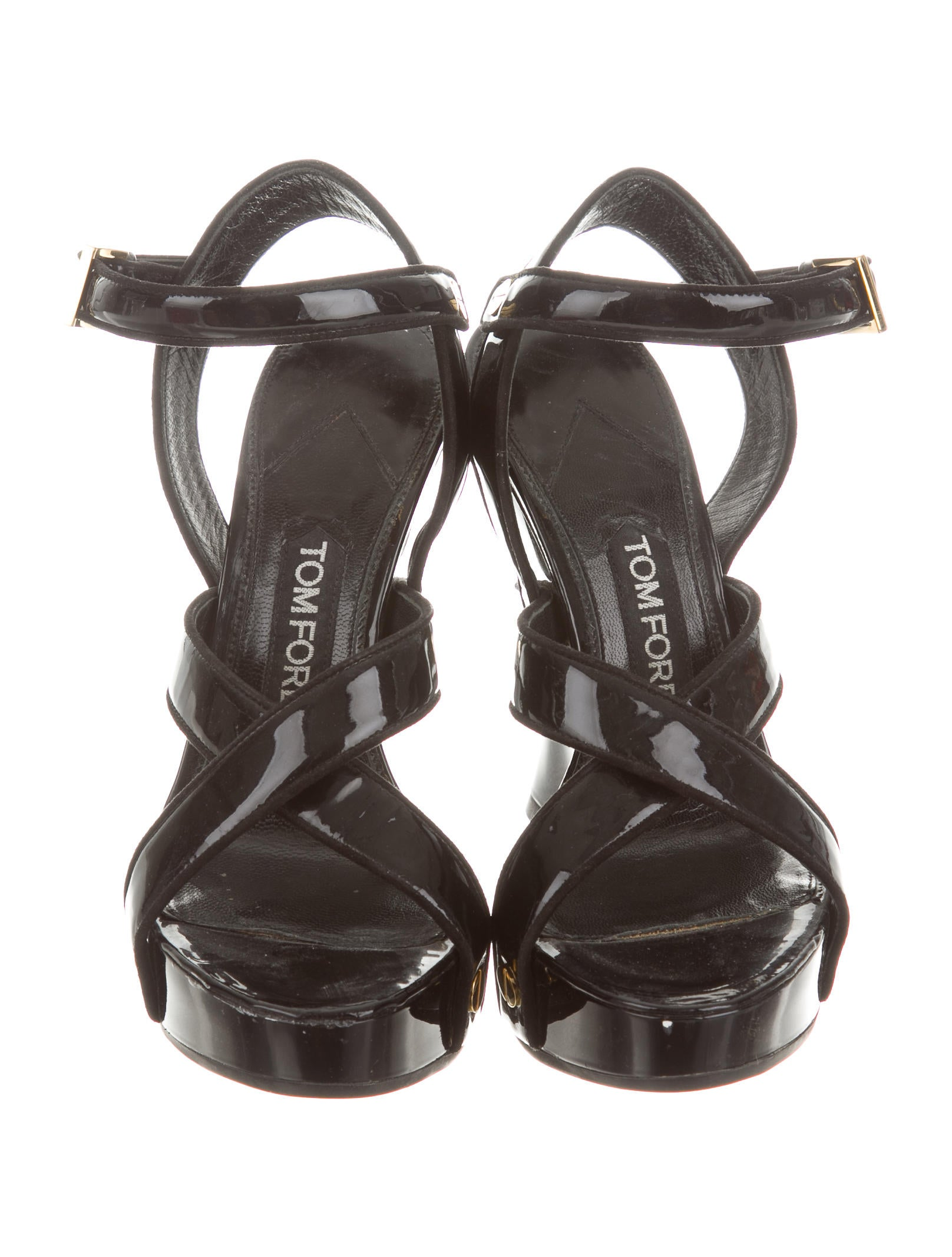 tom ford patent leather wedges shoes tom30196 the. Black Bedroom Furniture Sets. Home Design Ideas