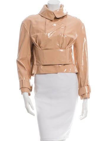 Tom Ford Patent Leather Cropped Jacket None