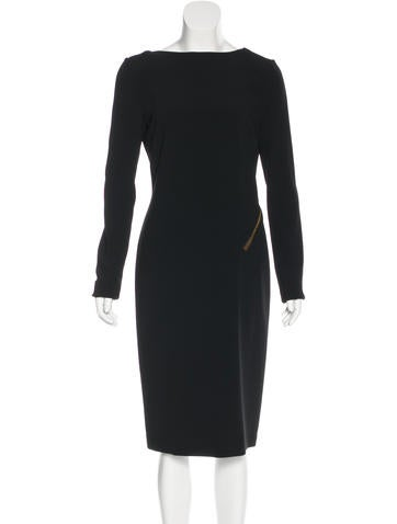 Tom Ford Backless Zip-Accented Dress