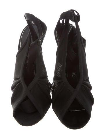 Satin Mesh Sandals