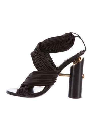 Tom Ford Pleated Crossover Sandals