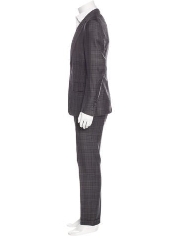 Wool Plaid Suit