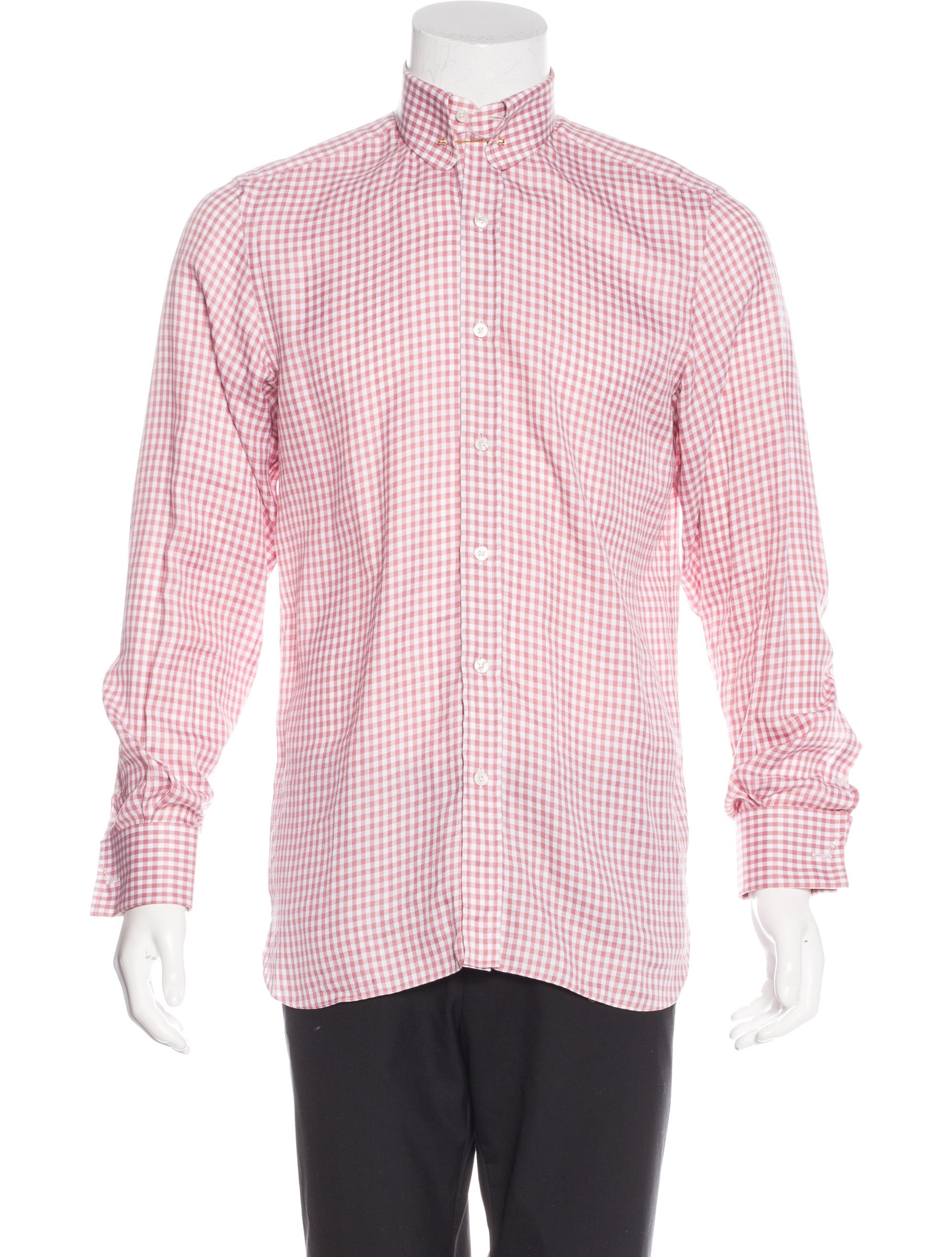 Tom Ford Gingham French Cuff Shirt W Tags Clothing
