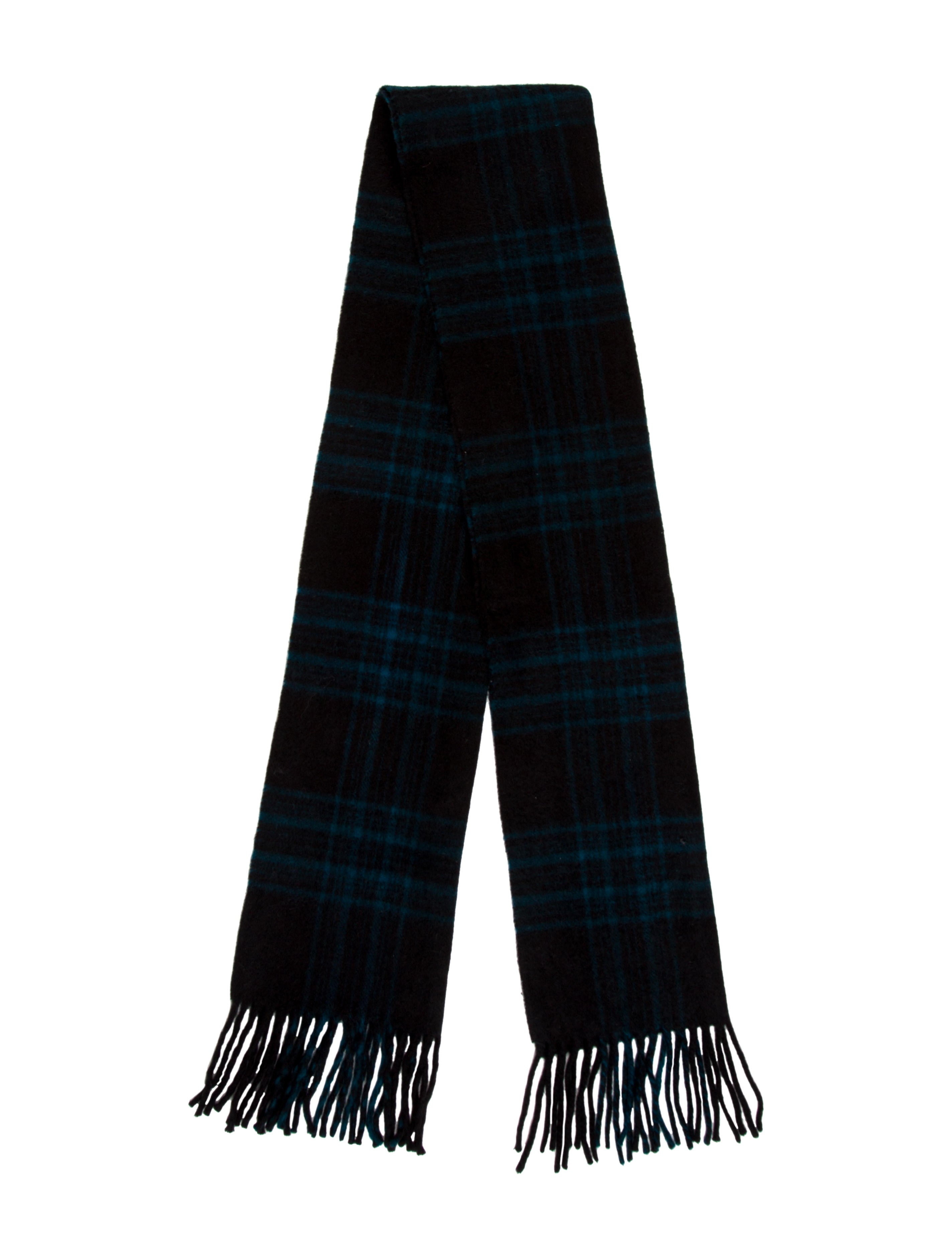 tom ford plaid fringe trimmed scarf accessories