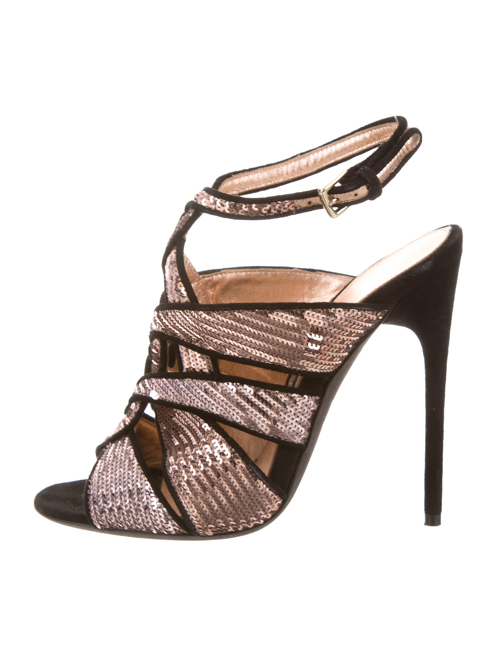 for sale cheap real Tom Ford Sequined Crossover Sandals cheap visit new nU7DHT3aTs