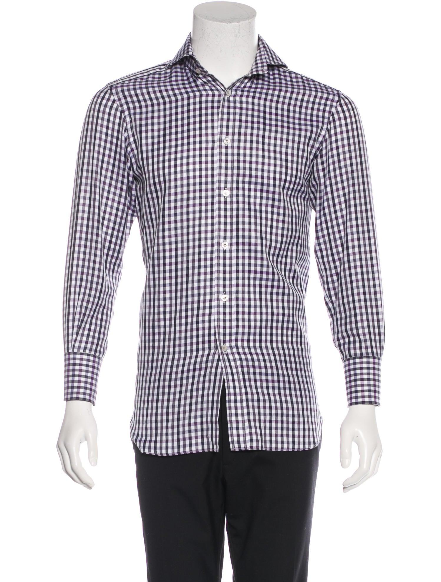 Tom ford gingham herringbone dress shirt clothing for White herringbone dress shirt