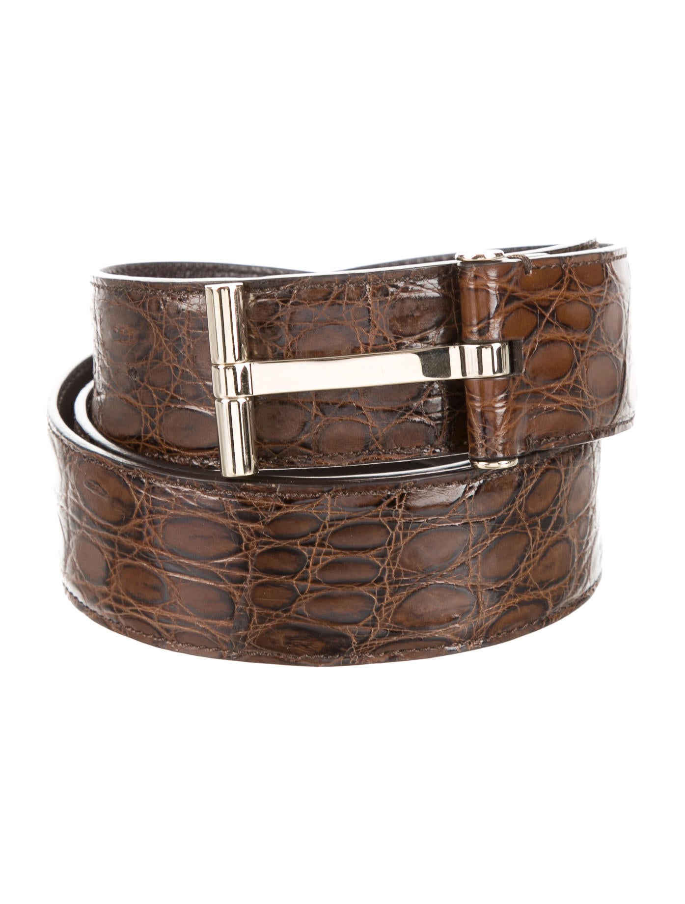 Tom Ford T Buckle Crocodile Belt Accessories TOM