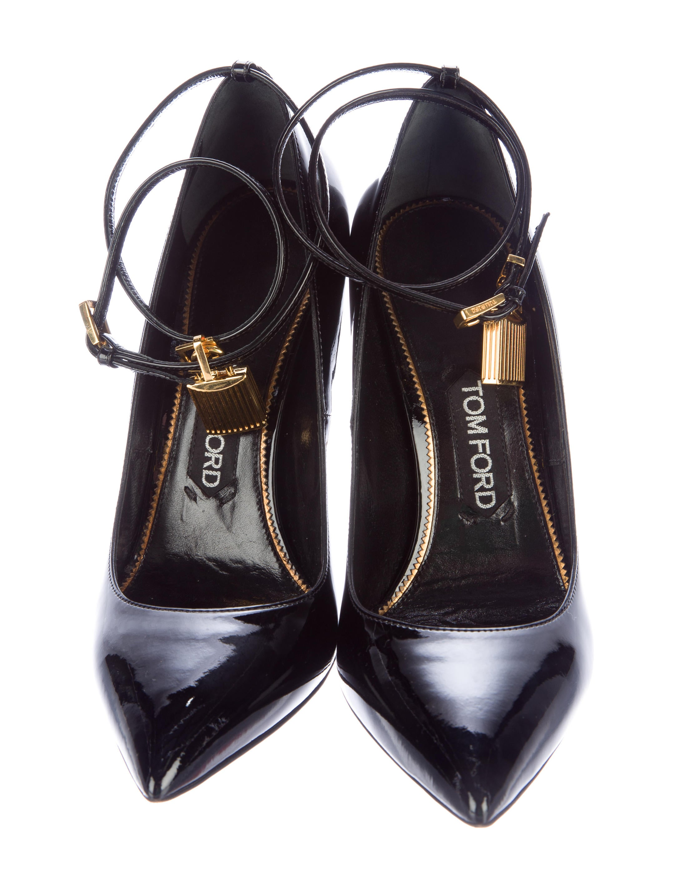 tom ford patent leather padlock pumps shoes tom33304. Black Bedroom Furniture Sets. Home Design Ideas