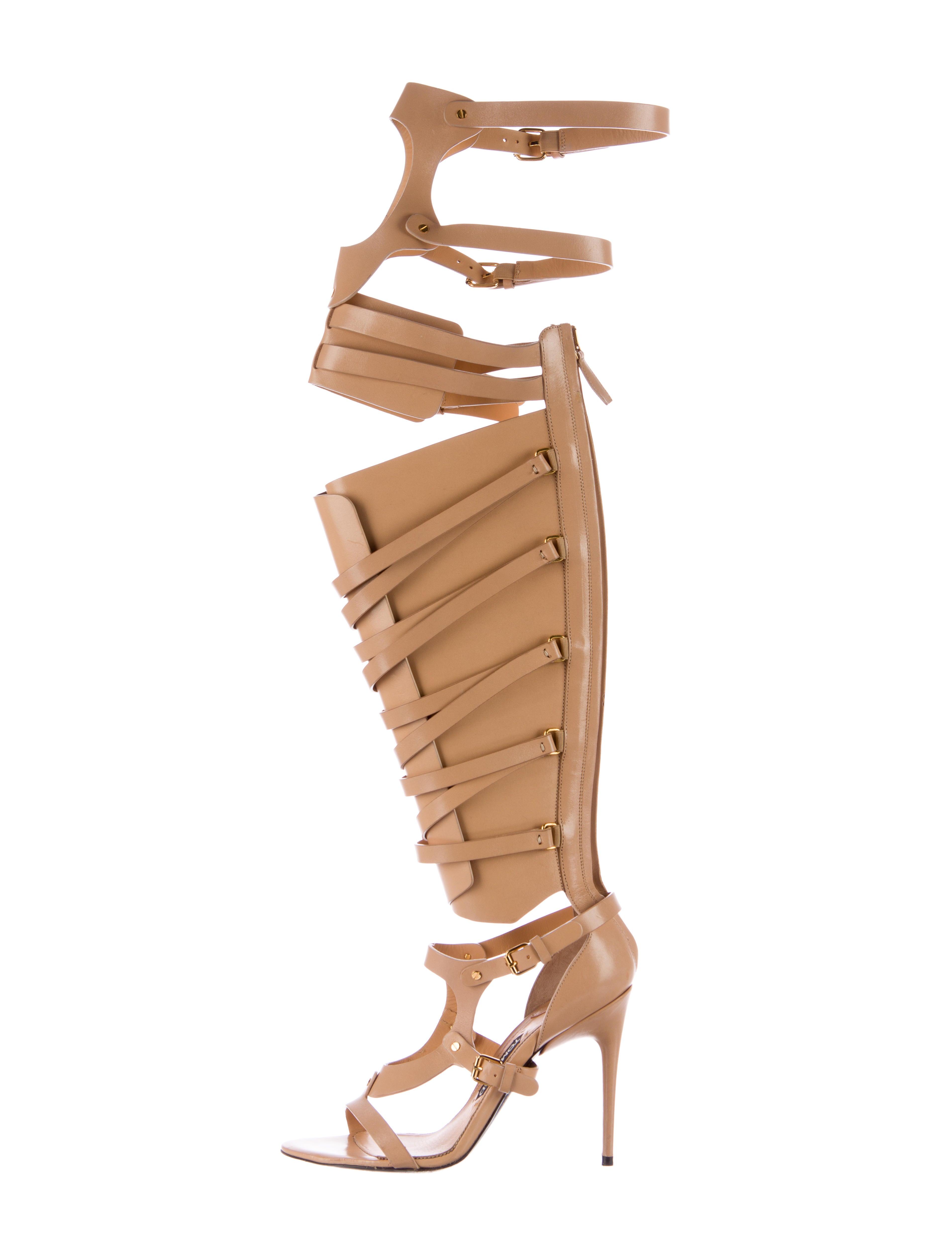 9e01db9ec1e2 Tom Ford Leather Gladiator Sandals - Shoes - TOM33920