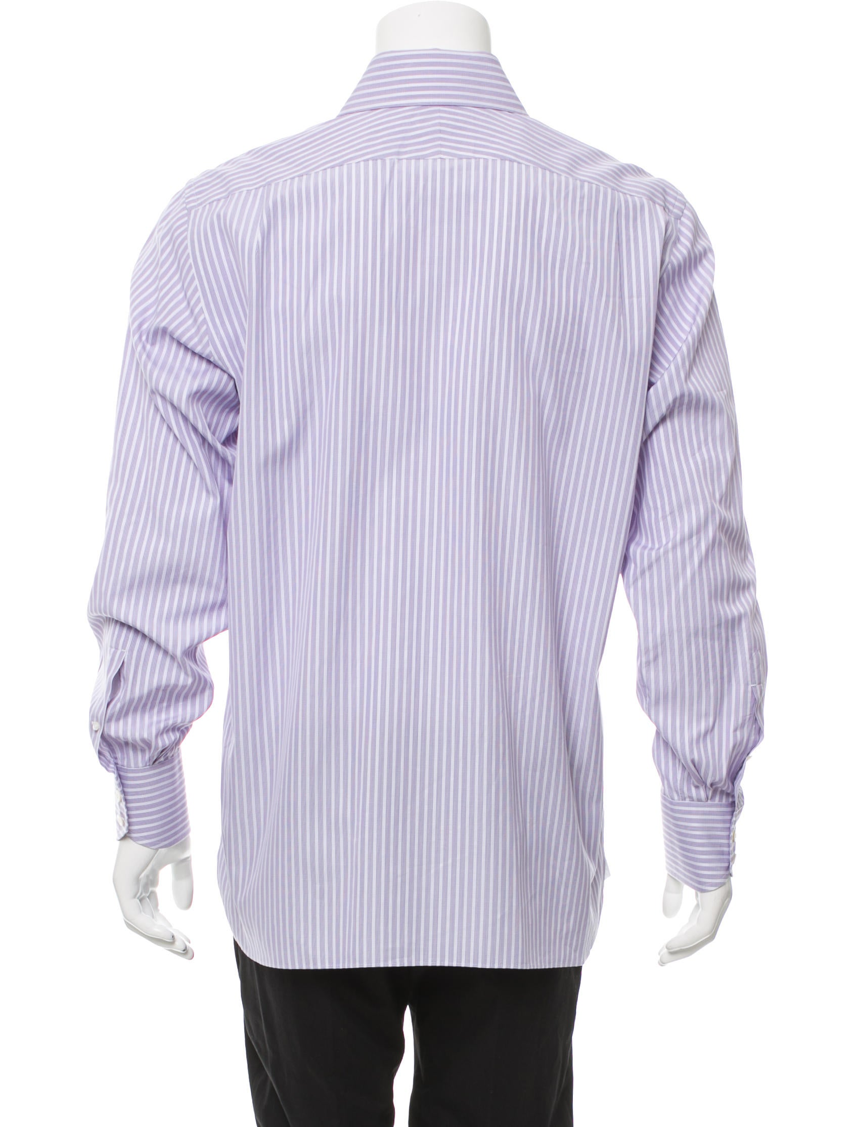Tom ford striped button up shirt clothing tom34137 for Striped button up shirt mens