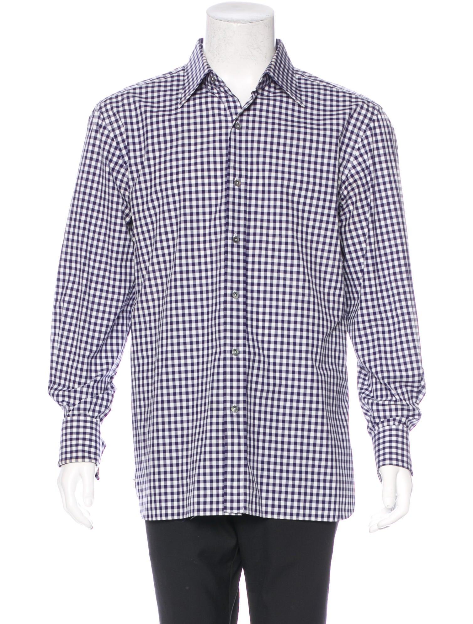 Tom Ford Gingham French Cuff Shirt Clothing Tom34449