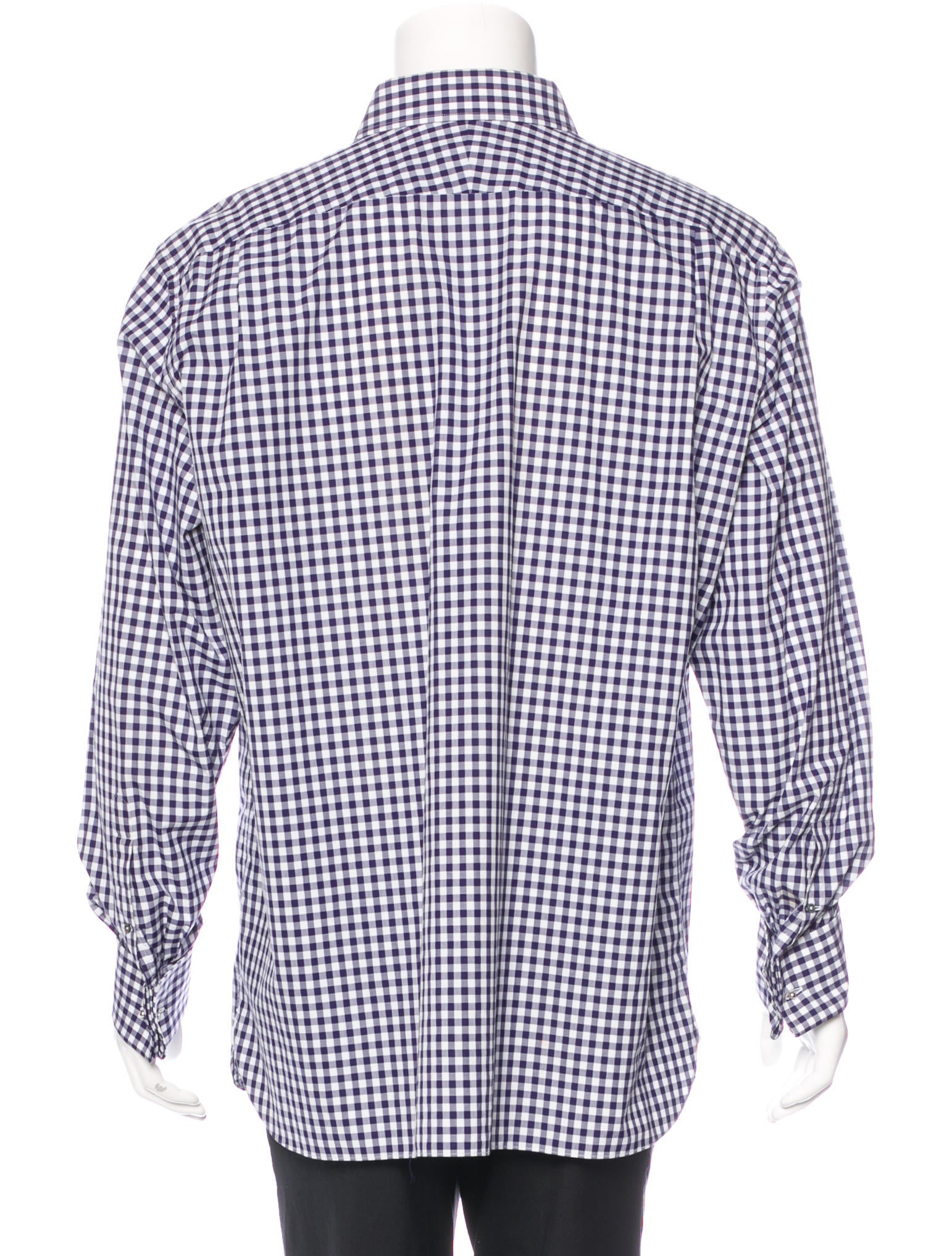 tom ford gingham french cuff shirt clothing tom34449