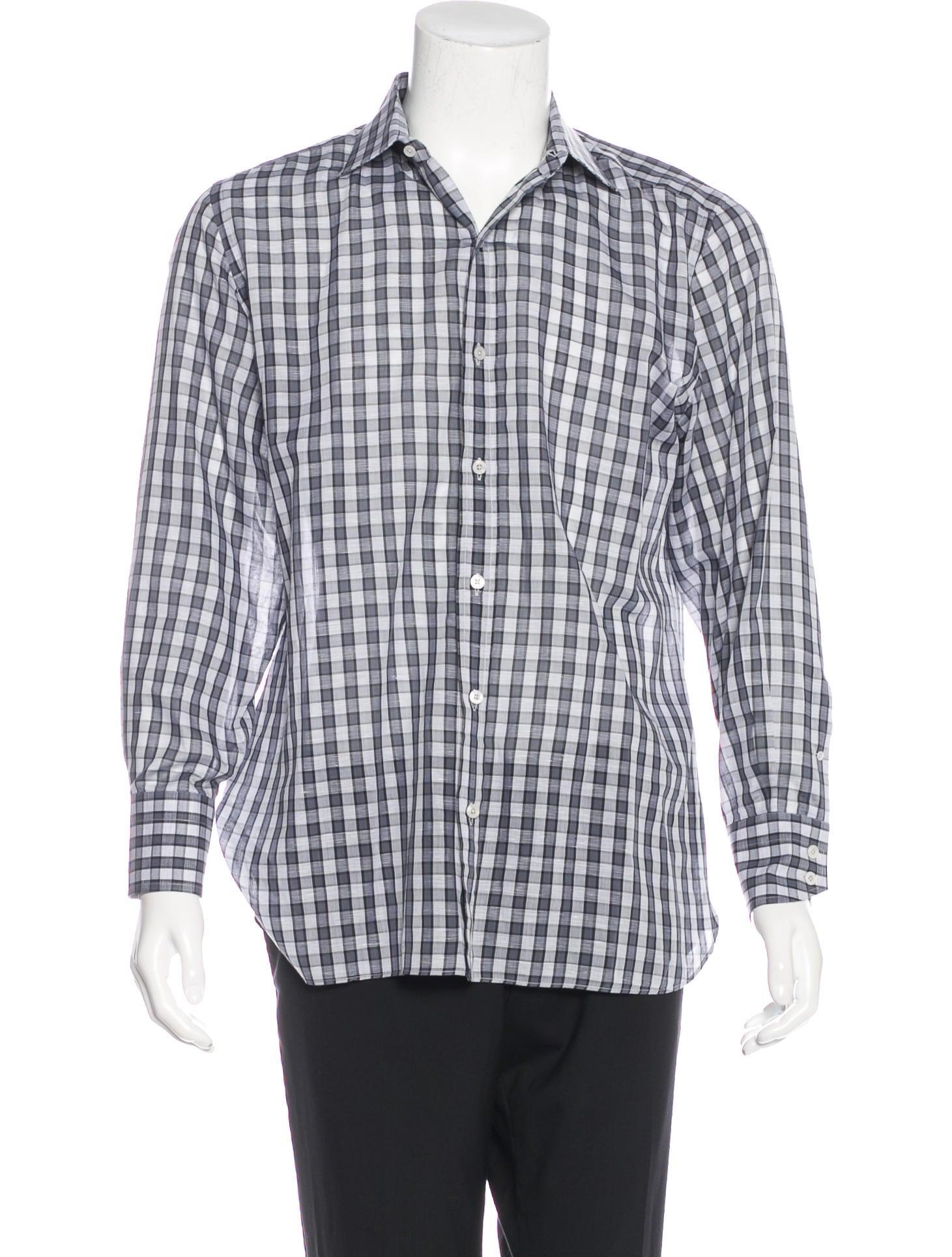 Tom ford gingham dress shirt clothing tom34615 the for Gingham dress shirt men