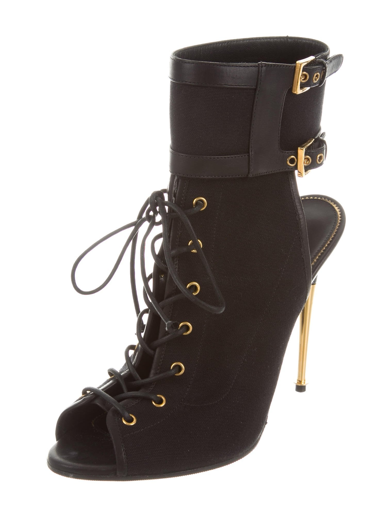 tom ford lace up peep toe boots shoes tom34915 the