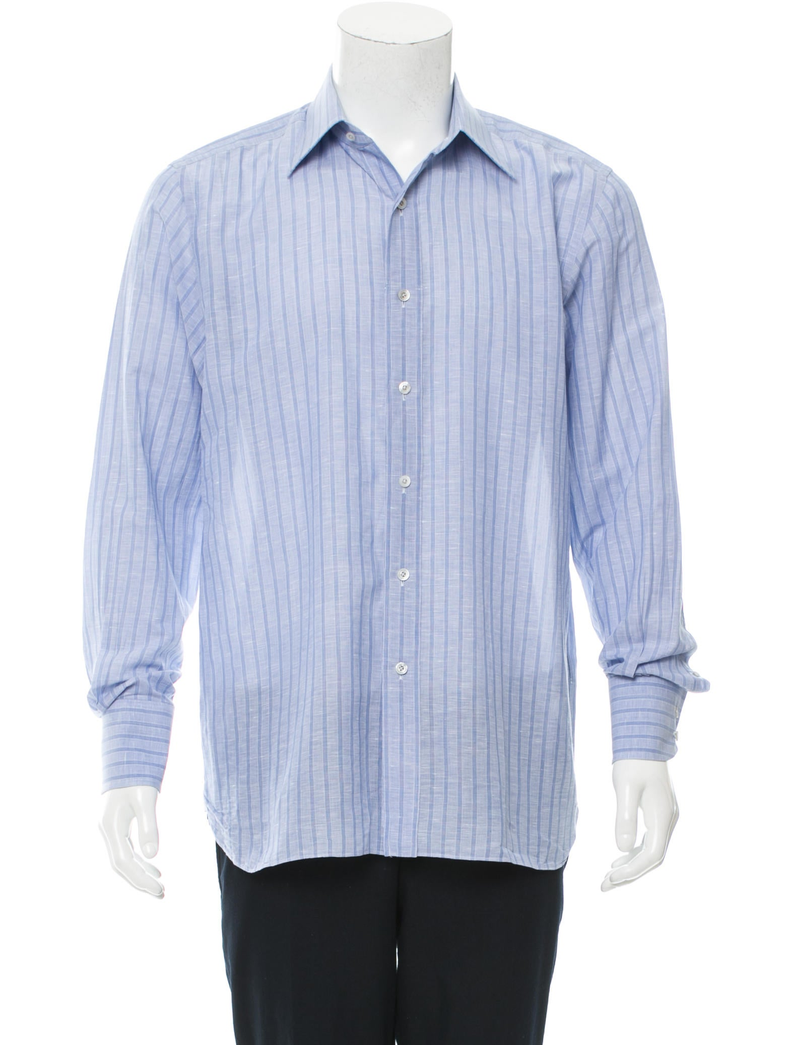 Tom ford striped button up shirt clothing tom35053 for Striped button up shirt mens